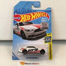 2015 Ford Mustang GT #222 * White * 2018 Hot Wheels Factory * E1