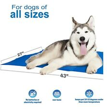 Unleashed Pets Large Self Cooling Pressure Activated Pet Cooling Gel Pad Mat
