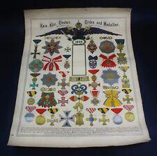 """Österreich Plakat """"Kaiserliche Orden und Medaillen"""" 1859"""