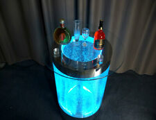 Led Bar Tisch Wasser Wand Bar Theke Regal Möbel Beleuchtete Couchtisch rund Steh