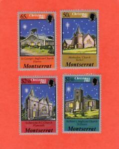 Montserrat Scott # 476 - 479 1981 Christmas Set of 4 UNUSED NH OG