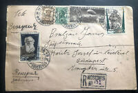 1936 Moscow RUSSIA USSR Hungarian Legion Official Cover to Hungary Sc#C18