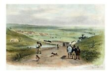 Victoria KEILOR Township 1855 artwork by S T Gill  modern Digital Photo Postcard