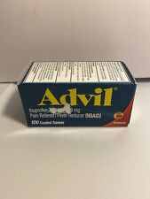 Advil Pain Reliever Fever Reducer Ibuprofen Coated Tablets 200 mg 100 Ct 6/2022+