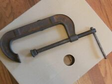 Vintage Collectible Jorgenson C-Clamp, 8 inch Good Condition, Moves Smoothly USA