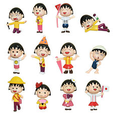 12pcs/lot Chibi Maruko Chan Action Figures Sakura Momoko Dolls PVC Figure