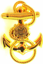 US Coast Guard Anchor Cap Hat Badge Screw Back USCG Pin Naval Insignia GOLDEN