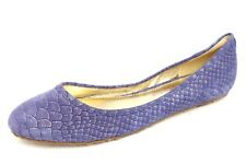 Womens ELAINE TURNER purple snake print suede ballet flats sz. 6 NEW!