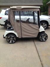 SUNBRELLA  EZGO RXV LINEN TWEED  GOLF CART ENCLOSURE TRACK STYLE
