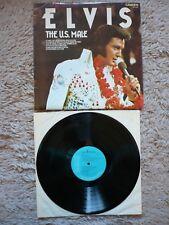 Elvis Presley los EE. UU. Macho Vinilo Uk 1975 Rca Camden A4/B11 Lp Exc quema de amor
