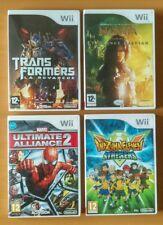 4 Jeux Nintendo Wii  * Transformers * Spider-Man * Narnia * Inazuma Eleven * TBE