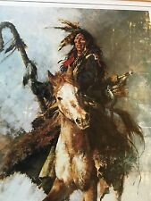 "Howard Terpning ""The Staff Carrier""  Lithograph on paper."