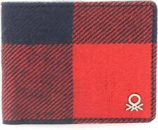 United Colors of Benetton Men Blue & Red Wallet 6 Card Slots - Bill