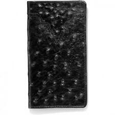 Silver Creek Western Mens Wallet Leather Rodeo Ostrich Print Black 06233