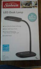 BRAND NEW SUNBEAM LED DESK LAMP - FLEXIBLE NECK - 3 Dimming Levels- BLACK