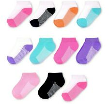 Fruit Of The Loom Toddler Girls Low Cut Socks Size L 7.5-11 Age 3-5.     11 Pack