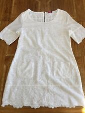 WRAP London White Broderie Anglaise Tunic Dress UK 12