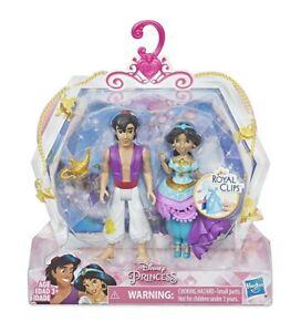 Disney Princess Jasmine & Aladdin 2 Dolls Royal Clips Fashion One-Clip Skirt