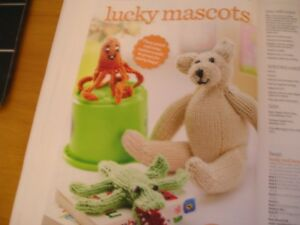 KNITTING PATTERN FOR 3 LUCKY MASCOTS. TOYS.