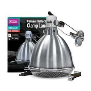 Arcadia Ceramic Reflector Dome 200mm Reptile Heat Lamp Light Fixture