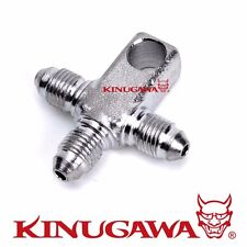 Kinugawa 3Way /3 Way 3AN Tee Fitting with Lug Motorcycle Brake / Turbo Oil Feed