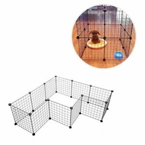 Dog Playpen Cage Extendable Folding Metal Wire Durable Home Pet Cage Accessories