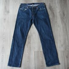 Vintage Mens Paul Smith Denim Jeans Straight Regular Bootcut 32 32R Washed Stone