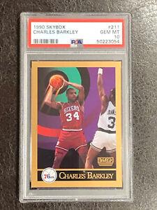 1990 Skybox Charles Barkley PSA 10 GEM MINT LOW POP Card #211 Sixers HOF, TNT.