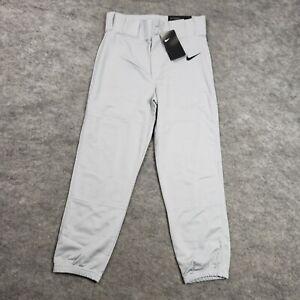 NEW Nike Boy Baseball Pants L Uniform Gray Sport Training Practice Pants Kids