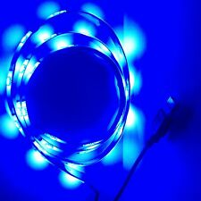 Alimentazione USB 1M Led Striscia Illuminazione retroilluminazione blu qualsiasi TV, XBOX, PSP, PC tramite USB