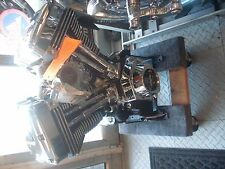 Ultima El Bruto 127 CI Black & Chrome Engine for Chopper Race Custom Harley Evo