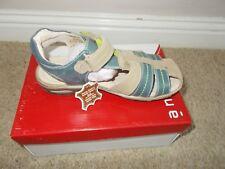 56efc999259 Boys TKMaxx French real leather velcro sandals size 11 UK 29 Eur new box