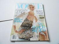 JULY 2004 VOGUE vintage womens fashion magazine (KIRSTEN DUNST)