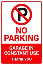 2 pcs No Parking Sign, Garage In Constant Use Adhesive Stickers V1, 140 x 210 mm