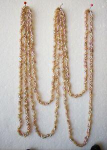 "Vintage Aboriginal Maireener Shells 35"" Pink Iridescent Necklace"
