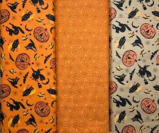 Halloween Fat Quarter Bundle Haunting by Renee Nanneman for Andover 3 FQ's Total