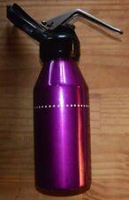 siphon eau de Seltz soda métal laqué violet, pop moderniste très années 1970