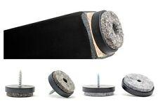 40mm Felt Furniture Gliders Screw in Sofa Chair Feet - Made in Germany / BLACK