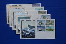 "Marshall Islands (132-135) 1987 Us Whaling Ships Colorano ""Silk"" Fdcs"
