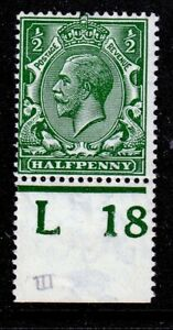 N14(15) 1/2d Myrtle Green Control M/MINT(596)