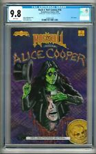 "Rock n' Roll Comics #18 (1990) CGC 9.8  White Pages ""Alice Cooper""  Double Cover"