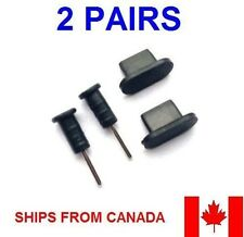 4x Earphones Jack & Charging Port Dust Plug for iPhone 5 5S iPad Mini 2 Touch 5
