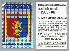 SCUDETTO CALCIATORI PANINI 1985/86 - NUOVO/NEW N.453 - GENOA