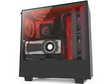 NZXT H510i Compact ATX Mid-Tower PC Gaming Case - Black (With 2 fans)