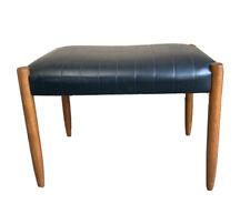 Vintage Retro Mid Century Leather Footstool