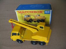 MATCHBOX SERIES No63 DODGE CRANE TRUCK MADE IN ENGLAND 1969 LESNEY WITH BOX