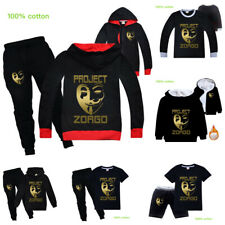 Gold Project Zorgo Kids Boys Casual Trouser Suit Outfits Hoodie T-shirt Top+Pant