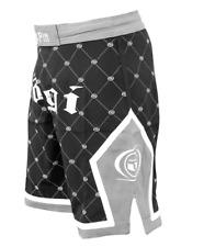 Kingpin Jiu-jitsu Fight Shorts by Nogi Industries Bjj Mma Gray/Black