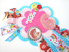 Little Mermaid Childs Birthday Badge Rosette Age, Name, Keepsake, Large
