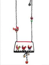 Lol Bijoux - Collier Famille Poule - Rouge